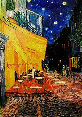 Close Up Terrasse de Cafe la nuit Poster Vincent Van Gogh (61cm x 91,5cm) + Original tesa Powerstrips® (1 Pack/20 STK.)
