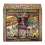 ASS KICKIN' Chili Seasoning Mix Meal Kit - Premium Gourmet Hot Chili Spice Kit, Cornbread Mix and...