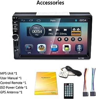 RK-7156G 2Din 7inch Car MP5 FM/RDS Car Radio HD Touch Screen GPS Navigation Car Multimedia Player Support USB TF