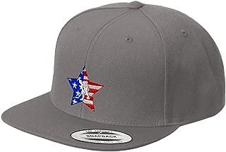 Custom Snapback Baseball Hat Sport American Flag Hockey Embroidery Team Acrylic