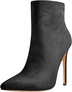 Onlymaker Ankle High Bootie for Women Pointy Toe Soft Autumn Dress Short Ankle Boots Shoes