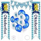 TUPARKA Oktoberfest Decorations Kit Octoberfest Party fornisce Oktoberfest Sign Flag Bavarese Pennant Banner Balloons