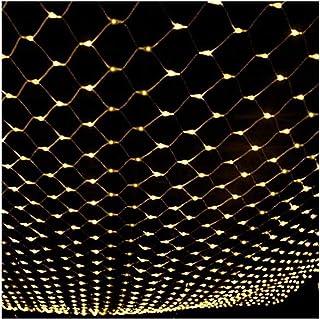 ASKLKD Fée REPOTEX, LED arrière Patio REPOTEX Balcon Clôture grillagée fée lumière Chaîne extérieure étanche, 8 Light Mode...