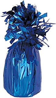 Unique Party Jumbo Foil Balloon Weight, Royal Blue