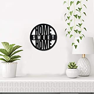 Sehaz Artworks Home Sweet Home Plaque Sign - Black Wooden Plaque Wall Hangings Home Room & Wall Decor Wall Art
