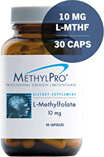 MethylPro 10mg L-Methylfolate 30 Capsules - No Fillers, Professional Strength 10000mcg Active Folate, 5-MTHF for Mood, Homocysteine Methylation + Immune Support, Non-GMO + Gluten-Free