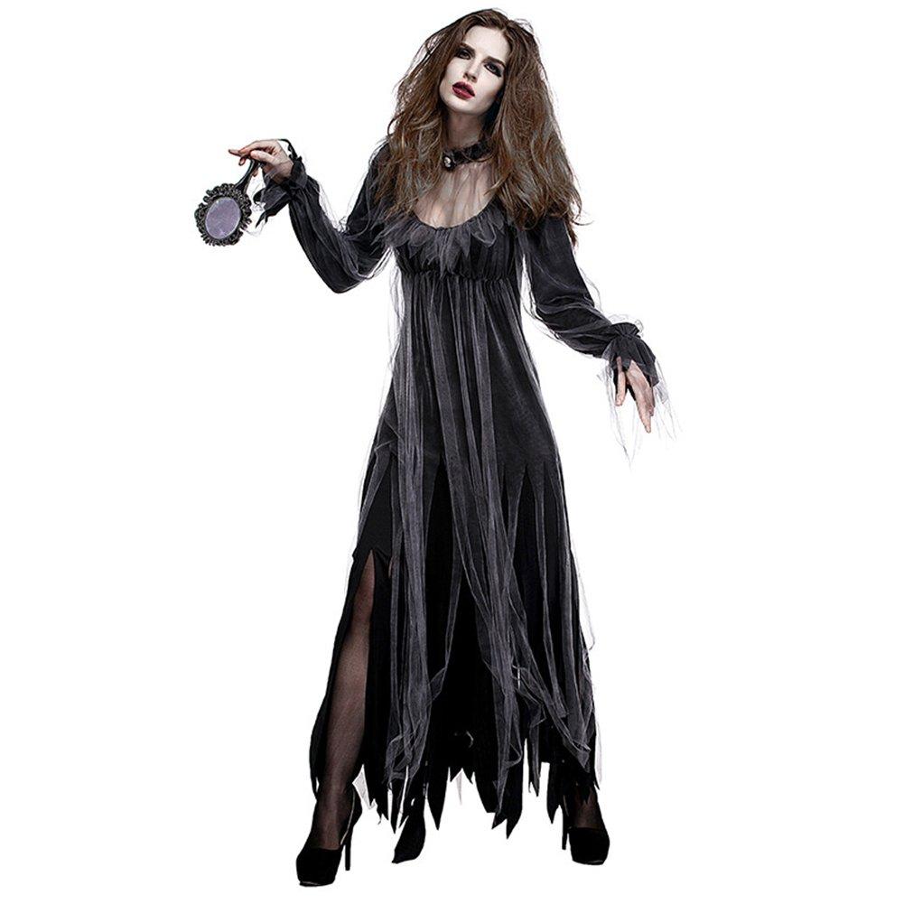 Molre-yan Disfraz de Terror de Halloween Disfraz de Novia de Cementerio Fantasma Disfraz de Zombie de Novia Disfraz de Zombie Disfraz de Demonio: Amazon.es: Jardín
