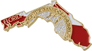 State Shape of Florida with Florida Flag Lapel Pin (10 Pins)