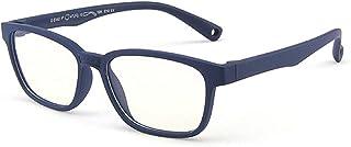 MAXJULI Kids Blue Light Blocking Glasses - Anti Eyestrain - Computer Gaming Eyeglasses for Boys & Girls - Square Frame Eye...