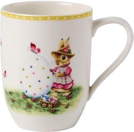 "Preisvergleich für Villeroy & Boch Spring Awakening Kaffeebecher""Bunny Tales"", Porzellan, Gelb/Grün/Rot"
