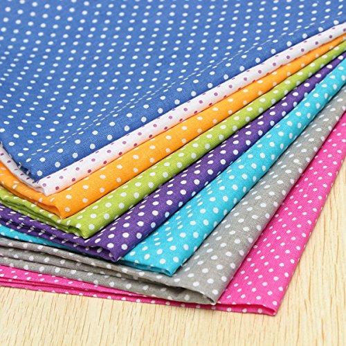 8 Stück Baumwollstoff Stoffpakete Patchwork Stoffe Baumwolle Stoffreste Tupfen Bunt 50x50cm