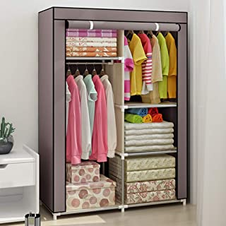 Armoire à vêtements Armoire portative Organisateur de rangement de vêtements durables Étagère de rangement en tissu non ti...