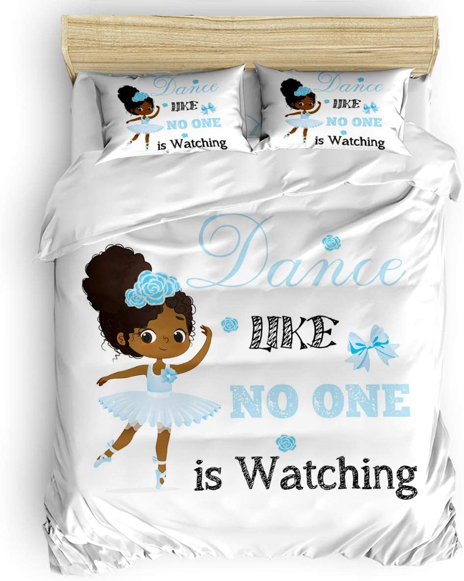 Queen Area 4 Pieces Duvet Covers Cute King D Size High material Ballerina Today's only Girl