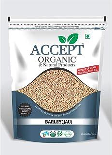 Accept Organic Barley Whole / Jau 1 KG Pack of Healthy & Organic Grain