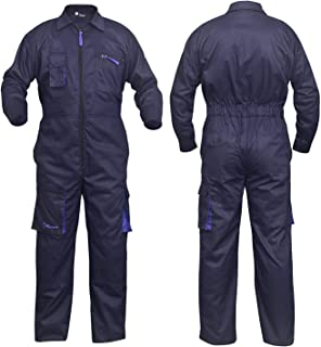 sUw Flame Resistant Safety Workwear Anti-Static Coverall Boilersuit 350g X-Small Navy 31 inch Leg