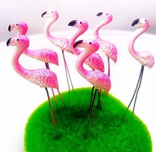 Tyga_Thai Brand Set 5 pcs. Terrarium Mini Flamingos Pink Color Stake Miniature Dollhouse Fairy Garden Accessories (Terrarium-Flamingo-Stake)
