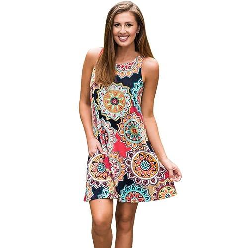 52e108a688e0 Sunday77 Women Dress Women Dress Summer Vintage Boho Valentine's Day Maxi  Evening Party Beach Floral Dress
