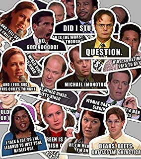 The Office Sticker Set with Quotes **Water Proof Stickers** Active