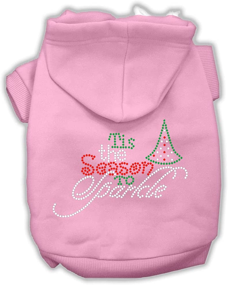 Mirage Pet Product Tis The Year-end annual account Season Rhinestone to Dog Sparkle Hood Max 65% OFF
