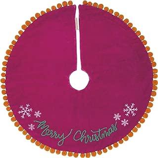 Primitives by Kathy Boho Velvet Tree Skirt, Merry Christmas