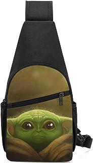 1 Trista Bauer The Mandalorian Yoda St-ar-War Bolso Bandolera//Mochila Cruzada en el Pecho//Bolsos de Hombro para Hombres Mujeres Viajes Senderismo Ciclismo Mochila Informal