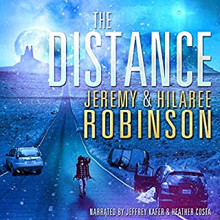 The Distance                   By:                                                                                                                                 Jeremy Robinson,                                                                                        Hilaree Robinson                               Narrated by:                                                                                                                                 Jeffrey Kafer,                                                                                        Heather Costa                      Length: 13 hrs and 9 mins     691 ratings     Overall 4.3