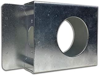 Galvanized Gate Lock Box Single Hole Weldable Steel 3 1/2