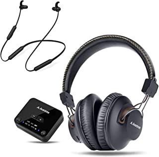 Avantree HT4189 & NB16, Dual Link Wireless Headphones & Earbuds for TV Watching w/Bluetooth Transmitter (Digital Optical A...