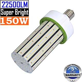 150W LED Corn Light Bulb Mogul Base E39 Led Bulbs 5000K Daylight 22500LM,500W-600W HPS HID Metal Halide Equivalent,Outdoor Large Area Replacement for Street Light High Bay Garage Warehouse Lighting