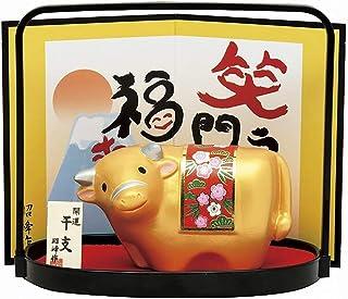 ノーブランド品 Gold OX with a Hand-Basket, New Year's Good Luck Item. Japanese New Year's Lucky Ornament, 2021's Japanese Zodiac ...