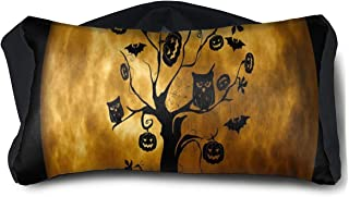 Eye Pillow Halloween Tree Owl Cool Eye Bag Mask Womens Portable Blindfold Train Sleep Protection
