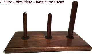 Triple Flute Stand Solid Walnut (C Flute-Alto Flute-Bass Flute)