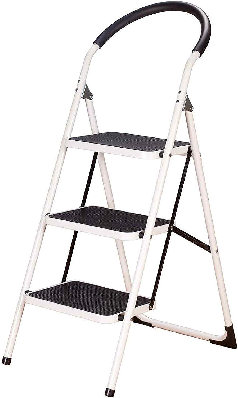 TLTLTD Step Stool, Household Anti-skid Folding Ladder Multi-function Indoor Solid Ascending Stool (Size   3 layer)