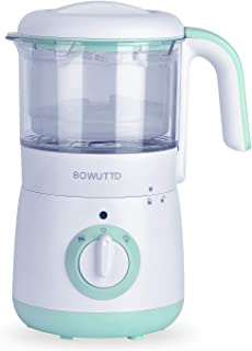 BOWUTTD 4 in 1 Baby Food Maker Processor Baby Cook Food Steamer and Blender for Infants and Toddlers Food Making Machine with Steam Cooker, Blender,Defroster, and Reheater