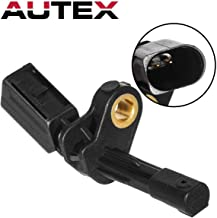 AUTEX 1Pc Rear Left ABS Wheel Speed Sensor ALS469 1k0927807 SU11906 5S10453 Compatible with AUDI A3 2006-2013/AUDI TT 2008-2009/SEAT LEON 2007-2011/Replacement for VOLKSWAGEN BEETLE 2012-2017