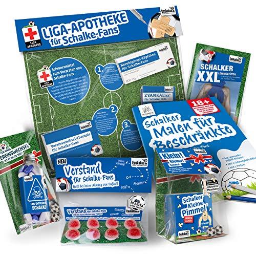Schalke Trainingshose ist jetzt KLEINE PIMMEL Set 2: MAXIMAL-Spass-Paket by Ligakakao.de blau-weiß Herren Umbro Jogging lauf-Hose Trainingsanzug