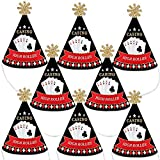 Big Dot of Happiness Las Vegas - Mini Cone Casino Party or Birthday Party Hats - Small Little Party Hats - Set of 8