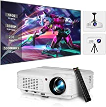 $299 » LED HD Movie Gaming Projector Support 1080P Rear Ceiling Projection LCD WXGA Video Projectors with Zoom HDMI USB AV Audio Out for iOS Android Phone DVD TV Laptop PS4 Netflix Home Theater Outdoor