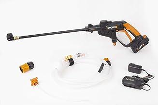 WORX WG625 20V Hydroshot Cordless Portable Power Cleaner, Black and Orange