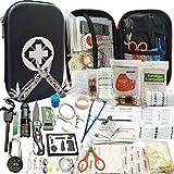 SCYDAO Kit de Survie d'urgence 241en 1 Multi-Outils De Survie Vitesse Kit, 241Pcs Tactique IFAK Pouch Outdoor Gear Sac Trauma d'urgence pour La Randonnée Camping Hunting Adventures,Noir