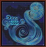Astro - Aquarius ~ Patrón de Punto de Cruz [PDF] (astrología Acuario)