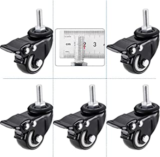 2 in schroefstang meubels mobiele katrol, universeel wiel met rem, vervangende zwenkwiel, doe-het-zelfhardware-accessoires...