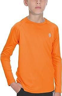 Sun Shirts for Youth Boys Rashguard - Long/Short Sleeve Lightweight Shirt SPF 50+