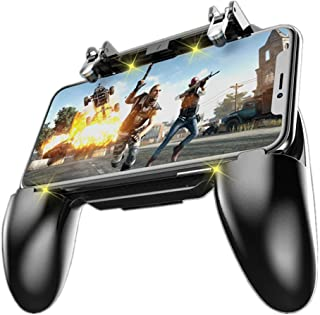 """COOBILE Mobile Game Controller for PUBG Mobile Controller L1R1 Mobile Game Trigger Joystick Gamepad for 4-6.5"""" iOS & Android Phone(W10 Update)"""