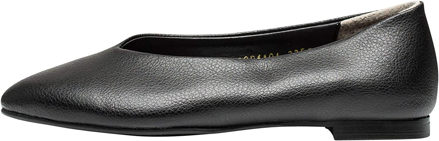 AnnaKastle Womens Pointy Toe Leather Loafer Ballet Flats