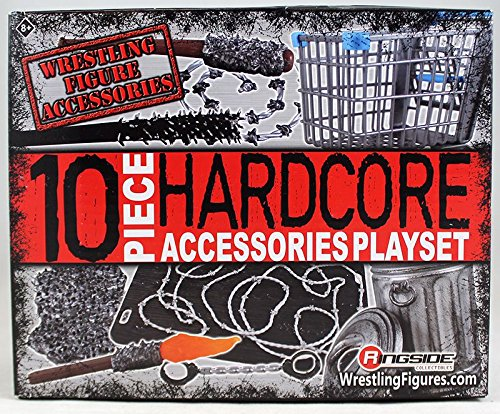Ringside 10-Piece Hardcore Accessories Playset Collectibles Exclusive WWE Toy Wrestling Action Figure Accessory Set