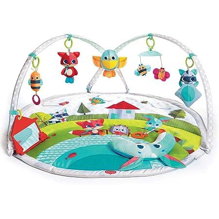 Tiny Love Dynamic Gymini Palestrina bambini evolutiva con Archi Regolabili, Palestrina musicale con gioco con musiche e luci, Tappeto Gioco pieghevole grande 100 x 90 cm, Collezione Meadow Days