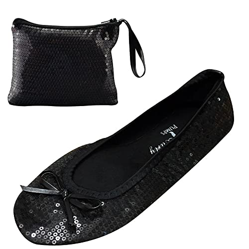 e7e4f1cea466 After Party Pumps Ladies Roll up Shoes Fold up Pumps with Carrier Pouch 3  Ranges Original