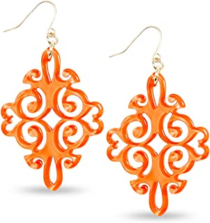 Acrylic Resin Twirling Drop Earrings for Women