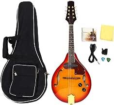 Dilwe Mandolina Acústica Eléctrica, 8 Cuerdas Mandolina con Bolsa de Almacenamiento Sunburst A Estilo Acústico Eléctrico Mandolina Instrumento Musical